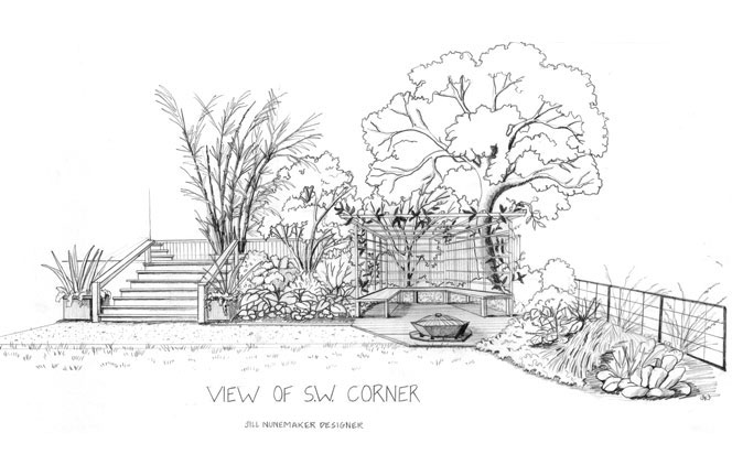Easy garden drawing pictures magielinfo